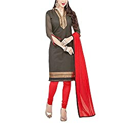 Applecreation Women's Black | Synthetic unstitched dress materials for women party wear bollywood dress material for Casual | Ceremony | Evening Occasions