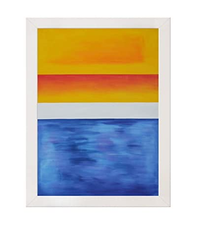 Mark Rothko Yellow, Red, Blue Framed Hand-Painted Reproduction