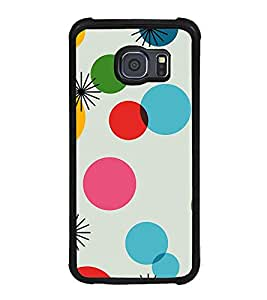 Fuson Premium 2D Back Case Cover Pattern With Black Background Degined For Samsung Galaxy S6 Edge::Samsung Galaxy Edge G925