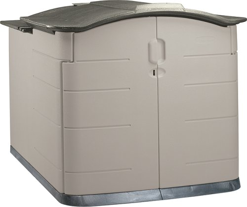 Rubbermaid Slide-Lid Storage Shed 3752, Grey