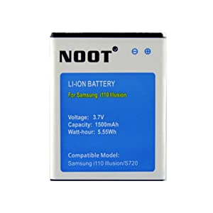 NOOT® EB484659YZ 1500mAh Replacement Battery for Samsung Illusion SCH-i110, SCH-S720C, SCH-R740C, Galaxy Discover, S720 Galaxy Proclaim [24-Month Warranty No Hassle Money Back Guarantee]
