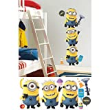 (18x40) Despicable Me 2 Minions Giant Peel and Stick Giant Wall Decals