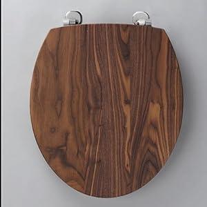 8300aws origin solid walnut toilet seat soft close