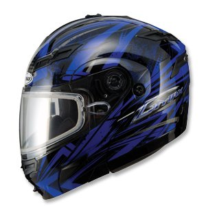 Gmax Gm54S Highmark Snowmobile Helmet Blue/Black Lg
