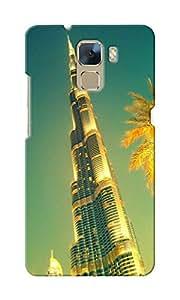 CimaCase Burj Khalifa Designer 3D Printed Case Cover For Huwaei Honor 7