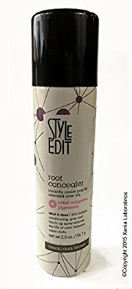 Root Concealer (Black/Dark Brown) 2oz by Style Edit ® Factory Fresh with E-Commerce Authenticity…
