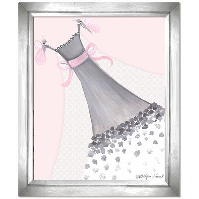 Doodlefish DB1700pnk-Silver Butterfly Couture Artwork, Silver Frame