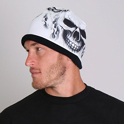hot-leathers-ghost-skull-soft-cotton-with-bright-sublimated-design-snug-fit-beanie-black