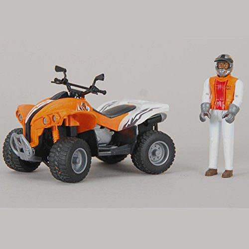 Bruder 09032 Quad Racer orange/weiß mit Fahrer Kindertag 2016