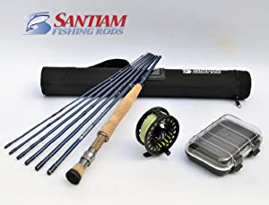 Santiam Fishing Rods Travel Fly Rod Reel Complete Outfit 7 Piece 9