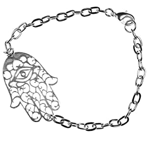 Small Hamsa Silver Dipped Bracelet
