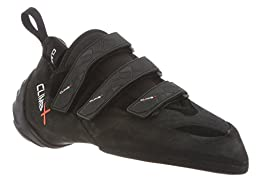 CLIMB X Rock-It Climbing Shoe with FREE M-16 Climbing Brush (Men\'s US 4.5, Black)