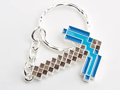 Minecraft Diamond Pickaxe Metal Keychain from Jinx