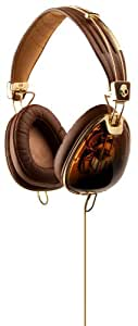Skullcandy Roc Nation Aviator Brown/Gold Headphones w/Microphone