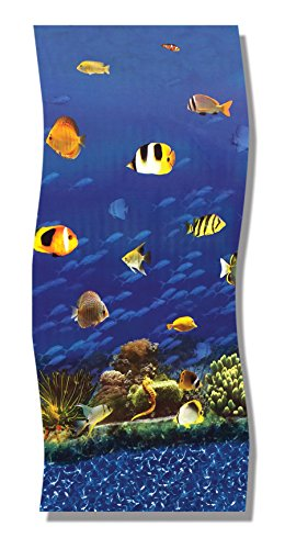 15x30 foot Nautical Reef Fish Print Oval Overlap Above Ground Pool Liner - Caribbean Style Print - 30 - Gauge (Above Ground Pool Liners 15x30 compare prices)