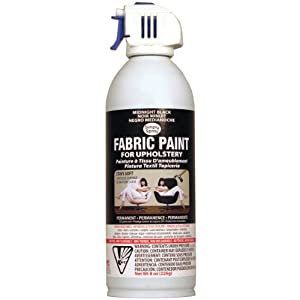 deval products upholstery spray fabric paint 8 ounce midnight black. Black Bedroom Furniture Sets. Home Design Ideas