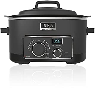 Ninja 3-in-1 Cooking System MC703 Professional 1200 Watt Programmable Slow Cooker