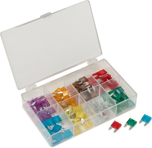 MINI BLADE FUSE BOX OF 100 ASSORTED