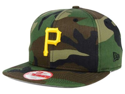 NEW ERA 9fifty MLB Pittsburgh Pirates HAT State Clip Snapback Woodcamo One Size CAP