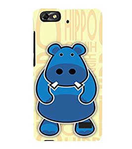 EPICCASE Cutie Hippo Mobile Back Case Cover For Huawei Honor 4C (Designer Case)