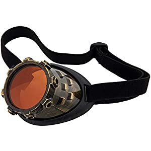 Elope Cybersteam Gold Eyepatch With Orange Lens