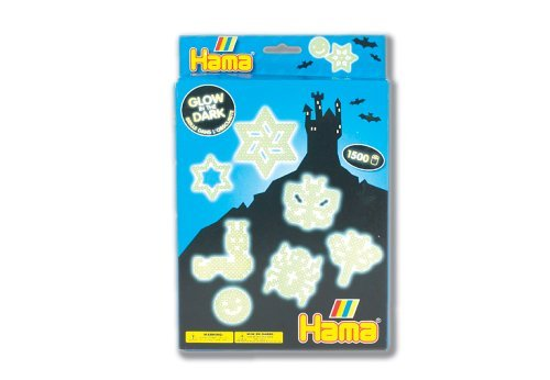 Create Fun, Glow In The Dark Designs With Hama Fuse Beads - Hama / Glow in the Dark Fuse Beads Gift Set