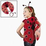 ハロウィンコスチューム・衣装昆虫てんとう虫てんとうむし羽と触覚のアクセサリーセット子供用