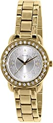 Timex Womens Classics Swarovski Crystal Accented Gold Tone SS Watch T2P257
