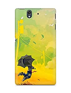Amez designer printed 3d premium high quality back case cover for Sony Xperia Z (Abstract Multicoloured Digital Art)