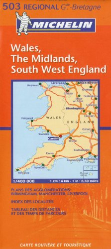 Michelin Map Great Britain: Wales, The Midlands, South West England 503 (Maps/Regional (Michelin))