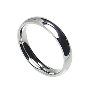 4mm Stainless Steel Comfort Fit Plain Wedding Band Ring Size 4-12; Comes With Free Gift Box (5)