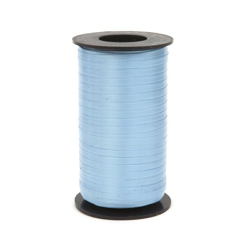 New Berwick Splendorette Crimped Curling Ribbon, 3/16-Inch Wide by 500-Yard Spool, Light Blue