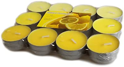 12 Lemon Luxury Scented Tea Lights from White Candle Company