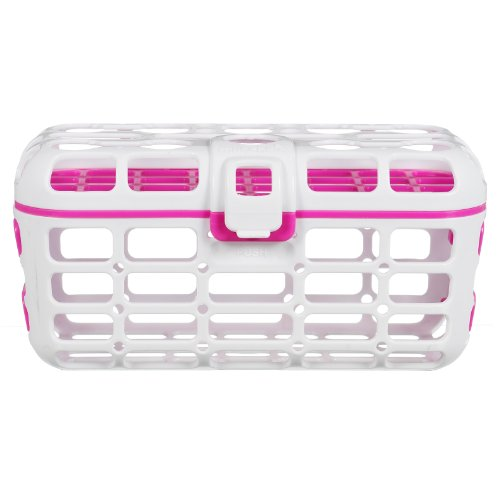 Munchkin Deluxe Dishwasher Basket, In Pink front-589818