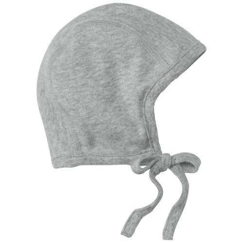 Hanna Andersson Baby Pilot Cap In Organic Cotton, Size S (1-3 Years), Baby Elephant Grey back-787149