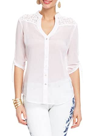 2B Lily Tie Front Top 2b Woven Tops White-xxs