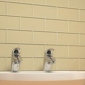 Giorbello G5923 Glass Subway Tile, Beige - - Amazon.com