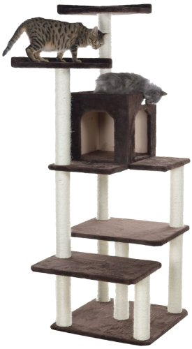 GleePet GP78680723 Cat Tree, 66-Inch, Coffee Brown