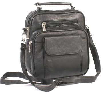 Black Organiser Shoulder Bag 104