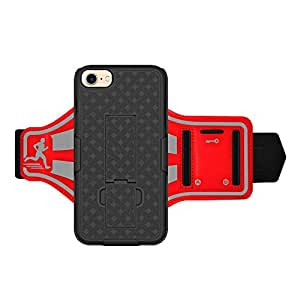 AMZER Shellster Armband Case For iPhone 7 - Red