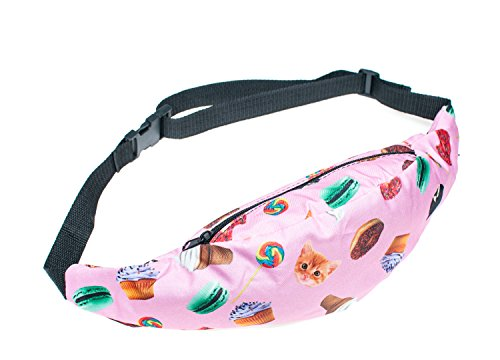 FESTIE FEVER Rave Fanny Pack (Cat & Sweets) (Cupcake Costume Pattern)