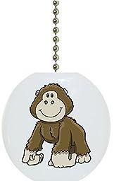 Carolina Hardware and Decor 2176F Baby Gorilla Ceramic Fan Pull