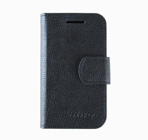 Sirius Premium Quality PU Leather Wallet Jelly Case Cover For Galaxy S i9000 i9001 Plus Tmobile vibrant T959 4G (Black)