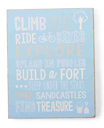 Mud Pie Plaque, Dream Big/Blue