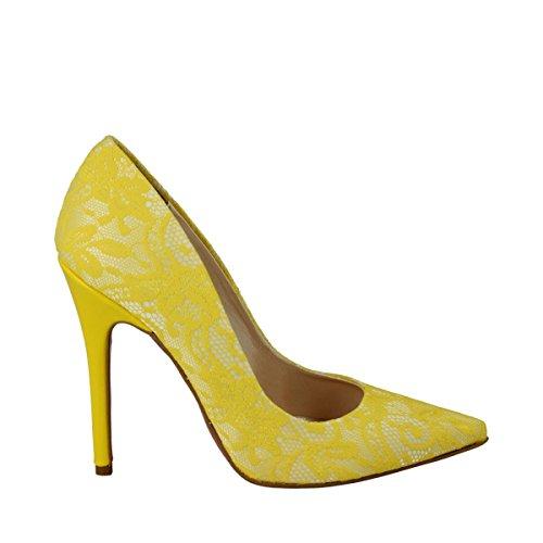 Altramarea - Altramarea decoltè pizzo giallo - 39, Yellow
