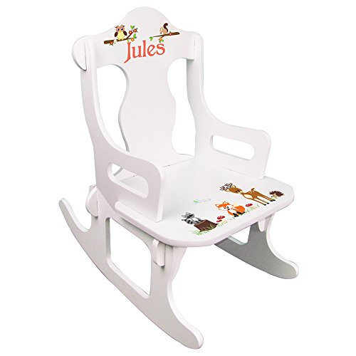 Personalized Child's Woodland Puzzle Rocking Chair