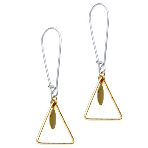 Pugster Triangle 925 Sterling Silver Dangle Earrings