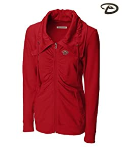 Arizona Diamondbacks Ladies Squeeze Play Full Zip Cardinal Red by Cutter & Buck