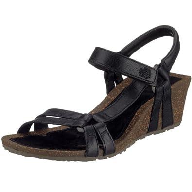 380071308582ac Teva Womens Ventura Cork 2 Wedge Leather Sandal