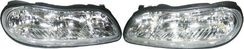 1997-2003 (1998 1999 2000 2001 2002 97 98 99 00 01 02 03) Chevy Malibu Headlight - One Pair (Both Driver and Passenger Sides) - DOT Certified Chevrolet Headlights (Headlights 99 Chevy compare prices)